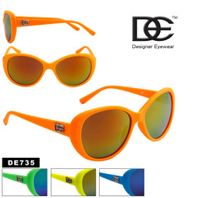 Wholesale DE™ Designer Sunglasses by the Dozen - Style # DE735 (Assorted Colors) (12 pcs.)