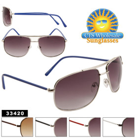 Wholesale Metal Aviators - Style # 33420 (Assorted Colors) (12 pcs.)