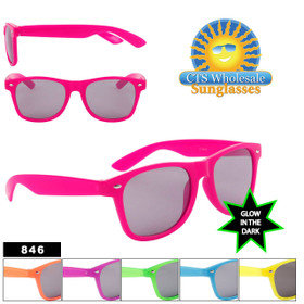 Wholesale California Classics Sunglasses - Style #846 Glow in the Dark (Assorted Colors) (12 pcs.)