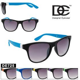 DE™ Designer Eyewear Wholesale Sunglasses - Style # DE725 (Assorted Colors) (12 pcs.)