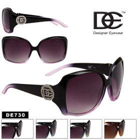 Wholesale Designer Eyewear Sunglasses - Style # DE730 (Assorted Colors) (12 pcs.)