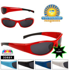 Floating Polarized Sunglasses - Style # 33521 Great Fishing Sunglasses! (Assorted Colors) (12 pcs.)