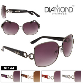 Diamond™ Rhinestone Sunglasses by the Dozen - Style # DI144 (Assorted Colors) (12 pcs.)