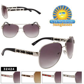 Women's Wholesale Aviators - Style # 32424 (Assorted Colors) (12 pcs.)
