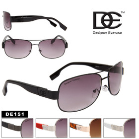 Wholesale DE™ Designer Eyewear - Style # DE151 Metal Aviator Sunglasses (Assorted Colors) (12 pcs.)