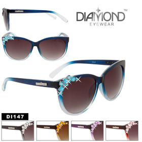 Diamond™ Eyewear Sunglasses Wholesale - Style # DI147 (Assorted Colors) (12 pcs.)