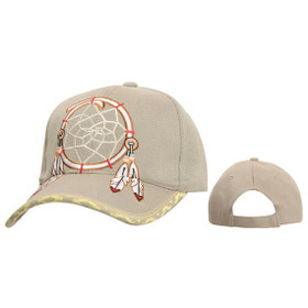 Wholesale Baseball Cap ~ Dreamcatcher ~ Beige