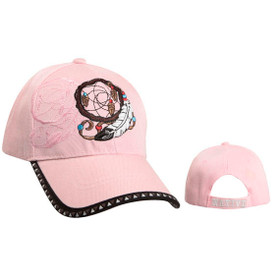 Pink Wholesale Dream Catcher Cap