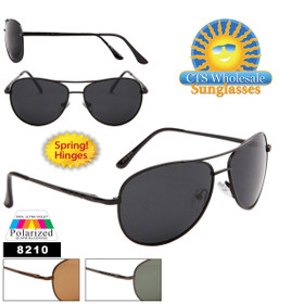 Polarized Aviators with Spring Hinges 8120