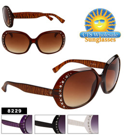 Wholesale Rhinestone Sunglasses - 8229 (Assorted Colors) (12 pcs.)