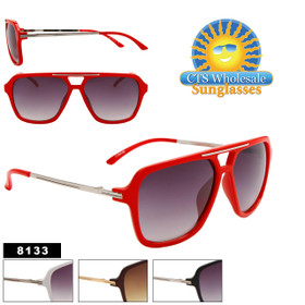 Wholesale Aviator Sunglasses - 8133 (Assorted Colors) (12 pcs.)