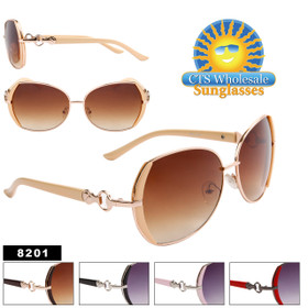Women's Sunglasses by the Dozen - 8201 (Assorted Colors) (12 pcs.)