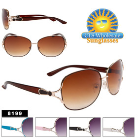 Wholesale Women's Designer Sunglasses - 8199 (Assorted Colors) (12 pcs.)
