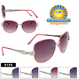 Women's Designer Sunglasses by the Dozen - 8195 (Assorted Colors) (12 pcs.)