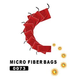 Wholesale Red Micro Fiber Bags 0073 (12 pcs.)