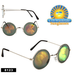 Skulls Hologram Sunglasses Wholesale - 8123 (Assorted Colors) (12 pcs.)