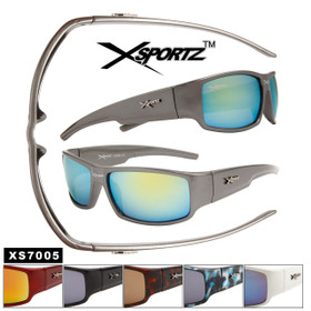 Bulk Sport Sunglasses Xsportz™- Style # XS7005 (Assorted Colors) (12 pcs.)