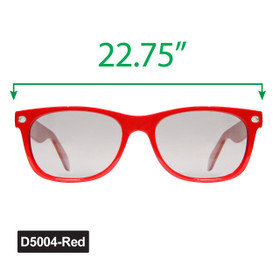 Large Wayfarer Sunglasses - Display D5004-Red