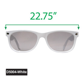 Large California Classics Sunglasses - Display D5004-White