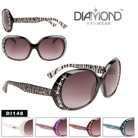 Wholesale Rhinestone Sunglasses Diamond™ Eyewear - Style #DI148 (Assorted Colors) (12 pcs.)