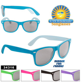California Classics Sunglasses by the Dozen - Style #34316 Rubber Feel Frames! (Assorted Colors) (12 pcs.)