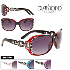 Diamond™ Eyewear Wholesale Rhinestone Sunglasses - Style #DI150 (Assorted Colors) (12 pcs.)