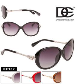 Wholesale DE™ Rhinestone Sunglasses - Style #DE157 (Assorted Colors) (12 pcs.)