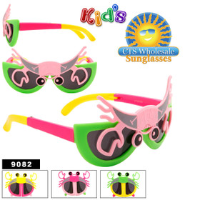 Folding Sunglasses For Kids by the Dozen - Style #9082 (Assorted Colors)