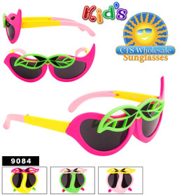 Folding Wholesale Kid's Sunglasses - Style #9084 (Assorted Colors) (12 pcs.)