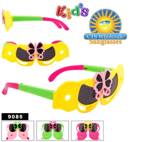 Kid's Wholesale Folding Sunglasses - Style #9085 (Assorted Colors) (12 pcs.)
