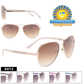 Wholesale Fashion Aviators - Style #6073 (Assorted Colors) (12 pcs.)