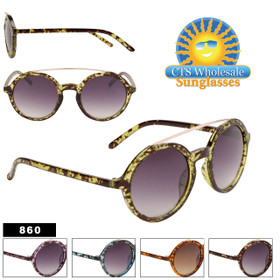Wholesale John Lennon Inspired Sunglasses - Style #860 (Assorted Colors) (12 pcs.)