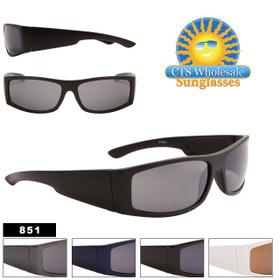 Men's Sunglasses by the Dozen - Style #851 (Assorted Colors) (12 pcs.)