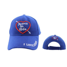 "Wholesale Baseball Cap C563 (1 pc.) ""Jesus Inside"" with Heart"