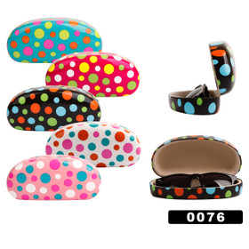 Bulk Sunglass Hard Cases - Style #0076 (Assorted Colors) (12 pcs.)
