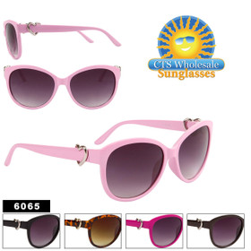 Cat Eye Sunglasses in Bulk - Style #6065 (Assorted Colors) (12 pcs.)