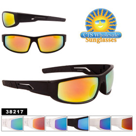 Wholesale Sports Sunglasses Style #38217 (Assorted Colors) (12 pcs.)