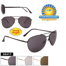 Wholesale Aviator Sunglasses - Style #36417 Spring Hinge (Assorted Colors) (12 pcs.)