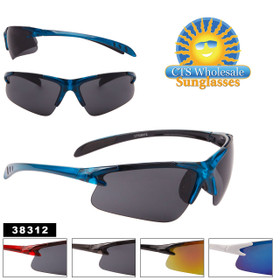 Men's Bulk Sport Sunglasses - Style #38312 (Assorted Colors) (12 pcs.)