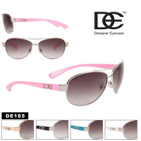 Wholesale DE™ Aviator Sunglasses - Style #DE165 (Assorted Colors) (12 pcs.)