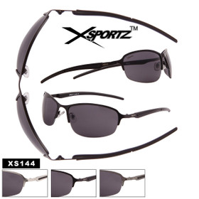 Men's Bulk Metal Sport Sunglasses - Style #XS144 (Assorted Colors) (12 pcs.)