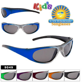 Kids Spider Design Sunglasses 9049 (12 pcs.) (Assorted Colors)