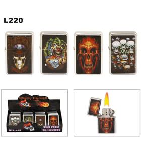 Wholesale Oil Lighters ~ Lighter Fluid NOT Included L220 (12 pcs.) Skulls