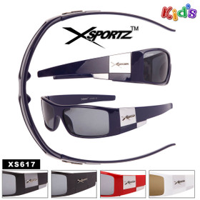 Xsportz™ Wrap Around Kid's Sunglasses - XS617 (12 pcs.) (Assorted Colors)