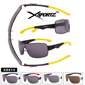 Xsportz™ Men's Single Piece Lens Sunglasses - Style #XS614 (Assorted Colors) (12 pcs.)