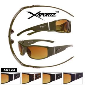HD Xsportz™ Sport Sunglasses - Style #XS623 (Assorted Colors) (12 pcs.)