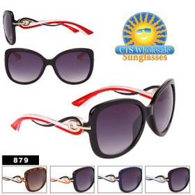 Modish Chic Over-Size Cat Eye Sunglasses  - Style #879 (Assorted Colors) (12 pcs.)
