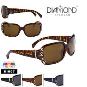 Diamond™Eyewear Polarized Rhinestone Sunglasses - Style #DI607 (Assorted Colors) (12 pcs.)