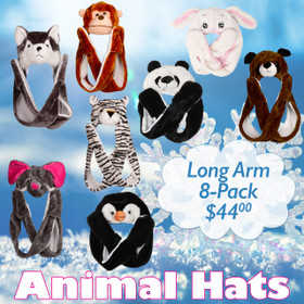 Sample Pack Long Arm Animal Hats AHLA2 (8 pcs.)