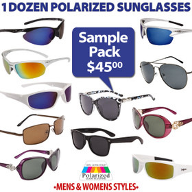 Polarized Sunglasses Sample Pack SPA-PO (Assorted Colors) (12 pcs.)